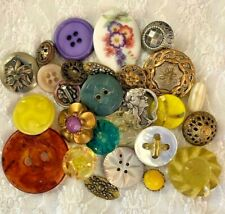 Mixed Lot Antique/Vintage Buttons - WOW