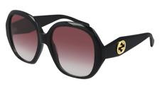 Neues AngebotGucci Sonnenbrille GG0796S  002 Schwarz - Rot - Frau