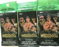 2018 TOPPS WWE ROAD TO WRESTLEMANIA FAT PACKS ( 3 PACK LOT )