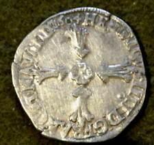 HENRI IV 1/4 ECU ARGENT 1604 rennes  monnaie dans son jus frappe marteau