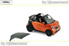 Smart Fortwo Cabrio de 2015 Orange & Black Gloss NOREV - NO 351422 - Ech 1/43