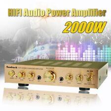 Sunbuck 338BT 2000W 5Ch bluetooth Power Amplifier HIFI AMP Stereo FM 110V US