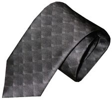 NWT BRIONI FADING GRAY TONES OPTICAL OP ART BOX PATTERN 100% SILK NECK TIE