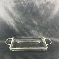 Vintage Clear Glass Silver Plate Cranberry Dish