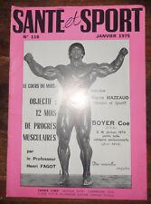Santé et sport n°116- Bodybuilding - Musculation - Photo ARAX 1975