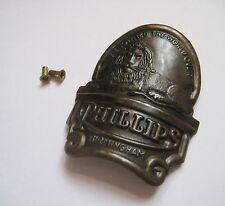 VINTAGE BICYCLE BIKE PHILLIPS HEAD BADGE NAME PLATE WITH 2 ORIGINAL RIVETS NOS!!