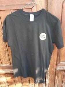Tee shirt BNP Paribas Roland  garros 1973 2013 40 ans taille M noir tennis