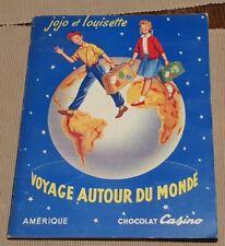 Album Image Jojo et Louisette Voyage autour du monde Amérique Chocolat casino