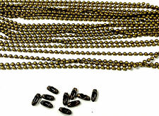 5m coloured ball chain 2.4mm antique bronze with 10 connectors