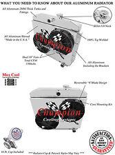 "(V8 Mount) 1955 - 1957 Chevy Bel Air 3 Row DR Radiator 2 x 10"" Fan Shroud Combo"