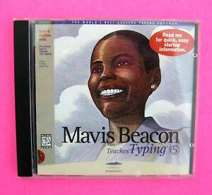 MAVIS BEACON Teaches Typing (Vintage PC Software) Windows 95, 3.1 Learn to Type