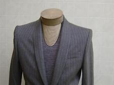 MURANO Men's Wool Shawl Lapel Collar Coat Jacket 1-BTN Gray Striped S Small $250