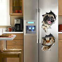 Removable 3D Cat Dog Bathroom Toilet Wall Stickers Decals Vinyl Mural Home Decor
