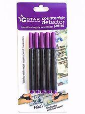 GStar Technology Counterfeit Detector Pen Marker - 5 Pen Pack