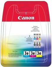Genuino Original CANON 3e Multipack Cartucho de tinta Cian Magenta Amarillo 3 Pack