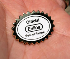 "Evilos Patreon Exclusive Seal of Failure Lapel Pin 1"" Nintendo Nes N64 SNES SEGA"