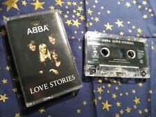 ABBA - LOVE STORIES cassette music tape chrome with lyrics booklet RARE