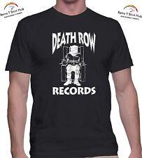 DEATH ROW RECORDS Dr.DRE TUPAC SHAKUR RETRO RAP  PRINTED T SHIRT & SINGLET