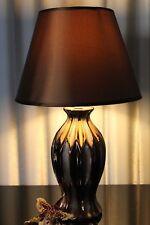 Lampe braun Nachttischlampe Leuchte Keramik Tischlampe Tischleuchte  45cm