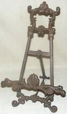"""Vintage Cast Iron Tabletop Art Easel Display Stand 16"""""""