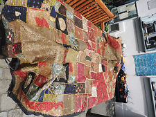 Tenture Murale Bettüberwurf Rajasthan antique Patchwork Mogul Stick travail 250 x 150 cm