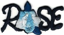 """1.75"""" Navy Blue Flower Rose Embroidery patch"""