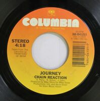 Rock 45 Journey - Chain Reaction / Send Her My Love On Columbia