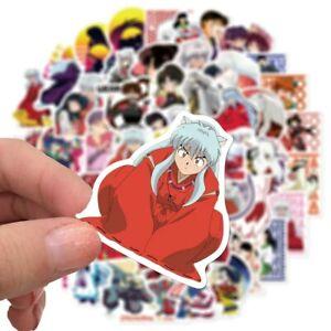 50Pcs INUYASHA Anime Stickers Japan Manga Series Cartoon Skateboard Vinyl Decals