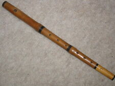 Nice, very old wooden piccolo flute 7 holes! brown wood, boxwood