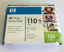 Hp Photo Valve Pack 110 Tri Color Ink Cartridge Vivera 120 4x6 Photos Expired