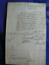 1715 signed document by Admiral Charles Wager and others