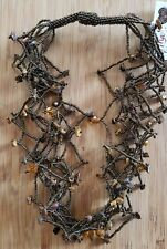 Cat Eye & Glass-Seed-Bead-Necklace-Handmade-Guatemala Fair-Trade