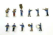 More details for 11 x preiser nautical marcing band painted figures set ho gauge 1/87 scale b1