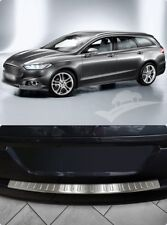 For Ford Mondeo Mk5 Turnier Chrome Rear Bumper Protector Scratch Guard S.Steel
