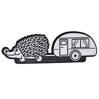 Caravan Igel Auto Relief Schild Emblem Aufkleber 3D Wohnwagen HR Art. 14948