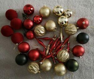 Red, Green & Gold Christmas Bauble Joblot/Bundle