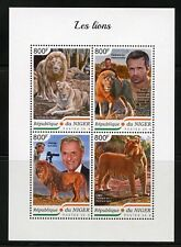 NIGER  2018  LIONS SHEET  MINT NEVER HINGED