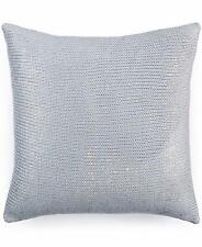 "New Bar III Metallic Print 16"" Square Decorative Pillow Light Blue $70"