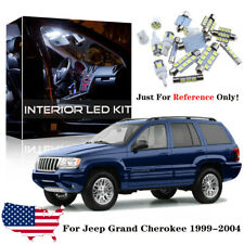 18x White Interior LED Lights Package Kit For 1999-2004 Jeep Grand Cherokee WJ