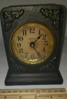 Vintage Westclox 1912 Ironclad Alarm Clock, Made In USA. Cast Iron Untested