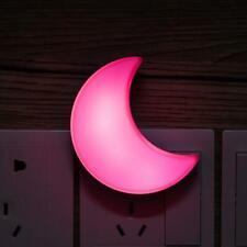 Crescent Moon US Plug Auto Sensor LED Night Light Lamp for Bedroom Girls - Kids