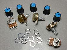 10K Linear Potentiometer Pot B10K 15mm Shaft + Knobs Pack of 5