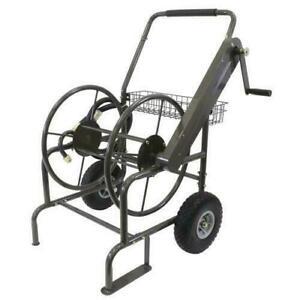 Milwaukee Mobile Hose Reel 250 ft. 2-Wheel Stand Industrial Heavy Duty HC250MILW