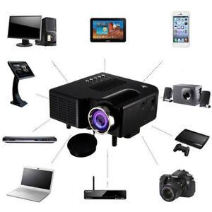 1080P Full HD Mini Projector Home Theater Cinema AV VGA USB HDMI Portative Wired