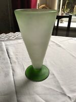 Circa 1739 George 2nd Opaque Green Glass Conical Vase ❤️20% Off (41)