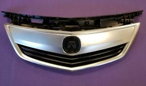 Fits NEW ACURA TL 12 13 14 Front Upper Grill Grille Satin Finished w/ MOULDING