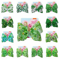 8 Inch Large Hair Bow Four-leaf Clover St. Patrick's Day Chic  Ksy