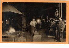 Real Photo Postcard RPPC - Two Blacksmith at Work