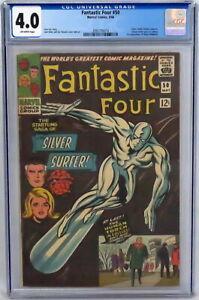 Marvel Comics Fantastic Four #50 CGC 4.0 1st Wyatt Wingfoot Stan Lee Kirby 1966