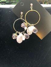 Rose Quartz Earrings Dangley Pink Fashion Earrings Pretty ID600